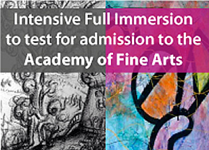 Intensive Full Immersion to test for admission to the Academy of Fine Arts